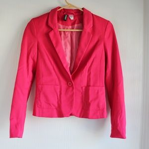 Divided by H&M Sz 4 Pink One Button Blazer Jacket